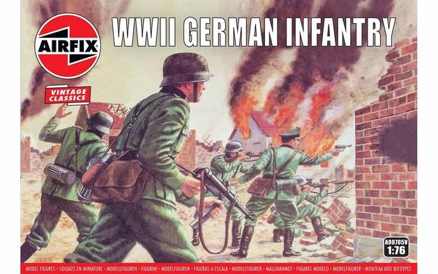 Airfix 1:76 WWII German Infantry Scale Model Kit