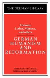 German Humanism and Reformation by Desiderius Erasmus image