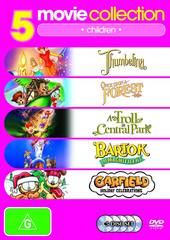 5 Movie Collection: Children Thumbelina/Once Upon A Forest/Troll In Central Park/Bartok The Magnificent/ Garfield Holiday on DVD