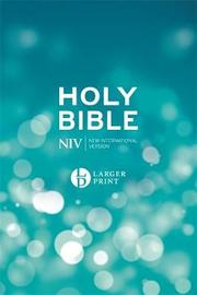 NIV Larger Print Blue Hardback Bible by New International Version