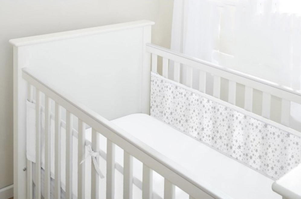 BreathableBaby: Breathable Mesh Cot Liner - 2 Sides (Twinkle Twinkle) image