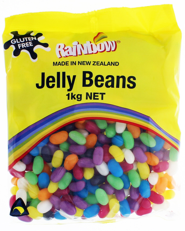 Rainbow Confectionery Jelly Beans Bulk Bag 1kg