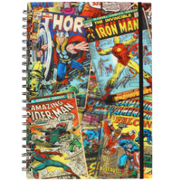 Marvel Retro 3D Lenticular A4 Notebook