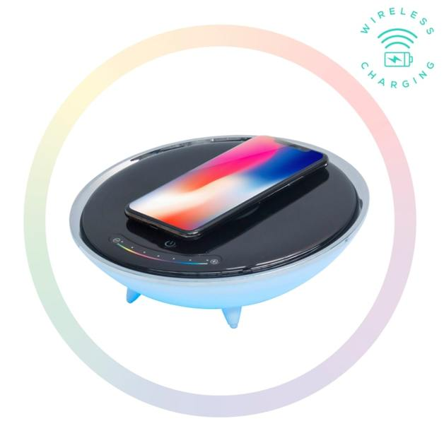 Activiva: Wireless Charging Stand with RGB Colour Changing Base