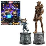 Marvel Chess Set Figure Collection #02 - Rocket Raccoon and Groot Bishop (with Magazine)