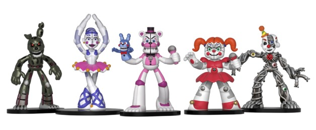 Hard-Working Horror Game Five Nights At Freddys Toys Action Figure Funtime Freddy Ballora Circus Babys Pizza World Figurine Gift For Boys Toys & Hobbies