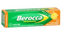 Berocca Performance Orange Flavour Effervescent Tablets (15 Tablets)