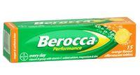 Berocca Performance Orange Flavour Effervescent Tablets (15 Tablets)