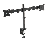 """OMP Desk Mount Twin Arm 13-27"""" Monitor Vesa 75/100 Mount"""