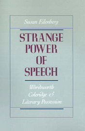 Strange Power of Speech by Susan Eilenberg image