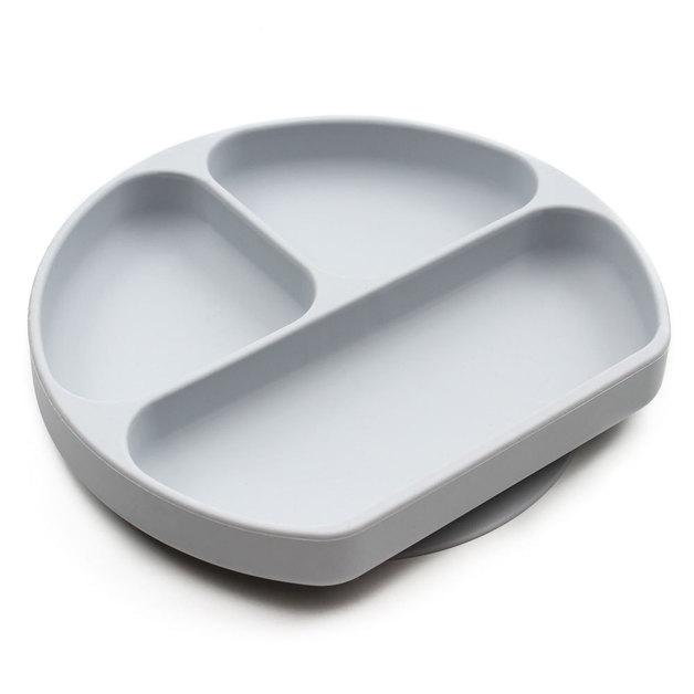 Bumkins: Silicone Grip Dish - Grey