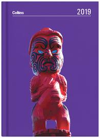 Collins 2019 Daily A5 Diary - Maori Toanga (Purple)
