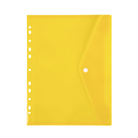 Marbig: Binder Pocket with Button Closure - Yellow