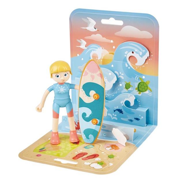 Hape: Adventure Kids - Girl & Surfboard