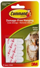 Command Poster Strips - White (12 Pack)