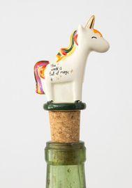 Natural Life: Bottle Stopper - Unicorn