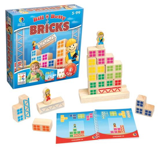 Smart Games - Bill & Betty Wooden Bricks | Toy | at Mighty Ape NZ