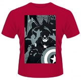 Avengers: Age Of Ultron 'Black Avengers' Mens T-Shirt - Red (Large)