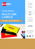 Avery L7264 Multi-Use Labels - Copper (10 Sheets/80 Labels)