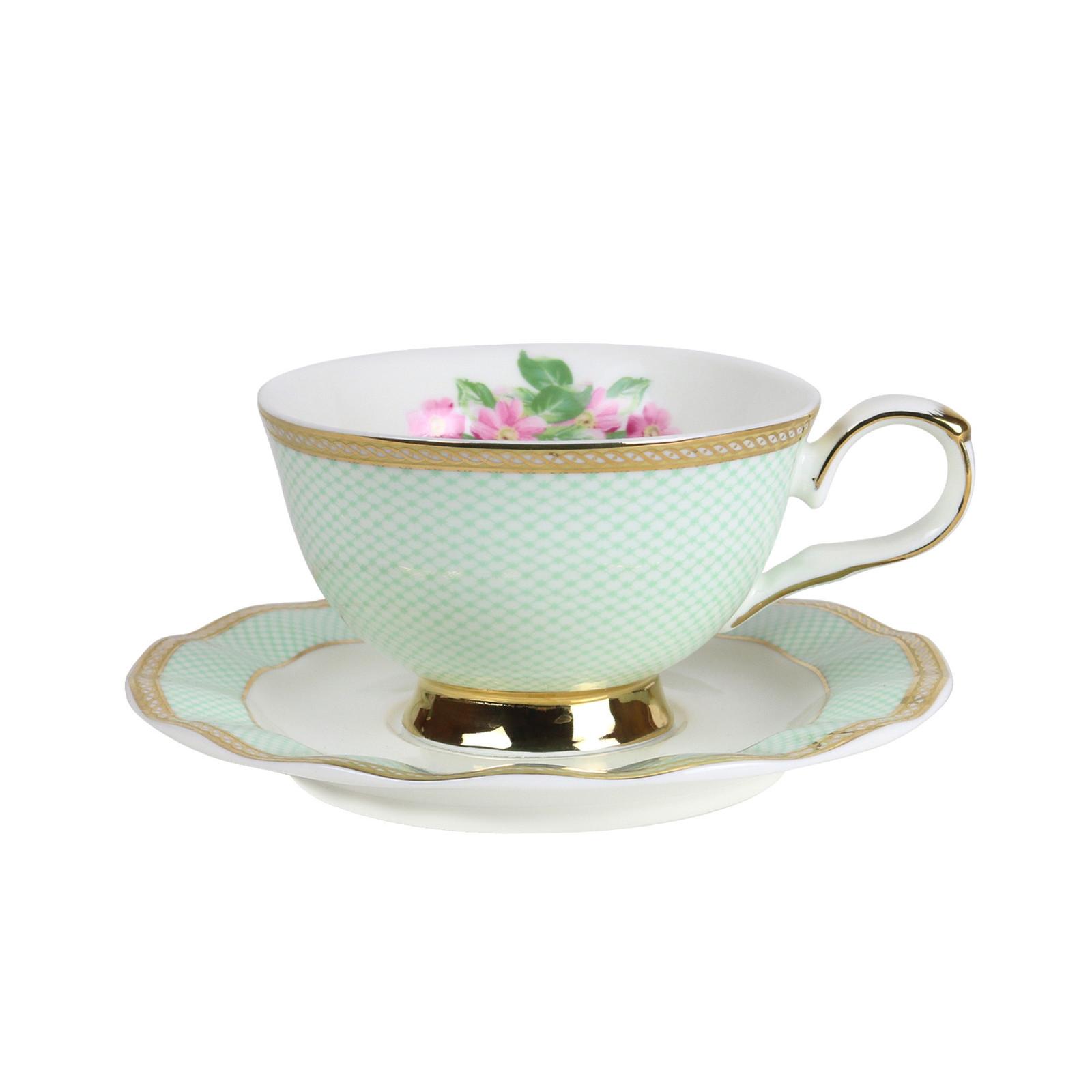 Robert Gordon: Teacup & Saucer (Parlour Green) image