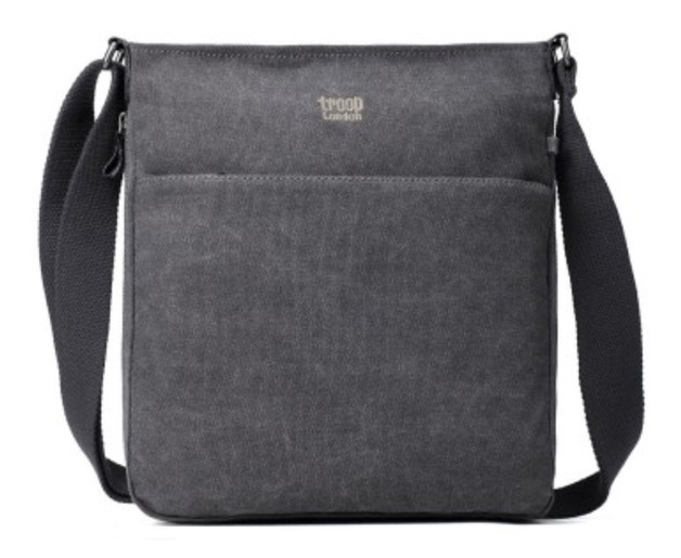 Troop London: Classic Small Zip-Top Shoulder Bag - Black