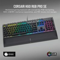 Corsair K60 RGB PRO SE Mechanical Gaming Keyboard (Cherry VIOLA Switch) for PC
