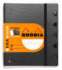 Rhodia A5+ Exabook, Lined (Organizer & Refillable Notebook)