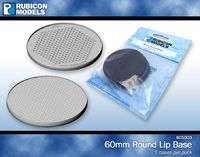 Rubicon 60mm Round Lip Base (5 Pack)