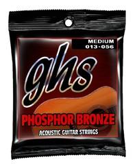 GHS Medium 13-56 Phosphor Bronze - Acoustic Guitar Strings image