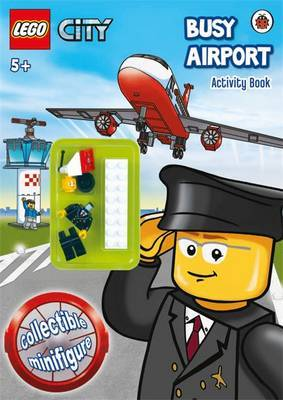 LEGO CITY: Busy Airport Activity Book with Minifigure image