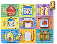 Melissa & Doug: Wooden Magnetic Hide & Seek Activity Board