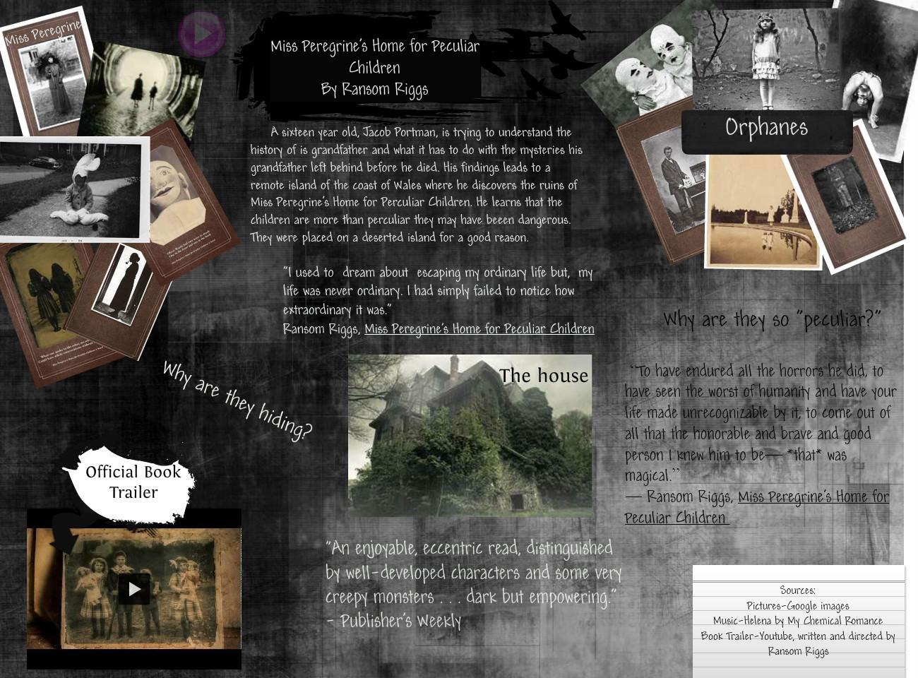 miss peregrine ransom riggs pdf
