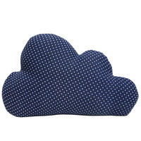 Cloud Cushion - Blue Polka Dot (Large)