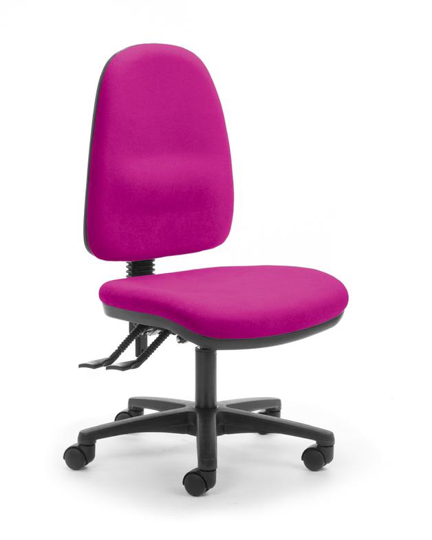 CS Alpha 2 Lever High Back Task Chair - Pink
