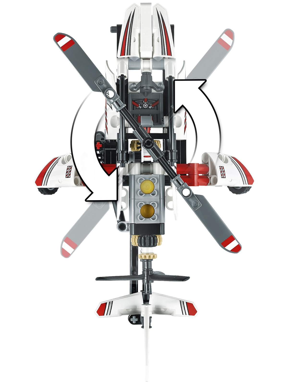 Lego Technic Ultralight Helicopter 42057 Toy At Mighty Ape Nz