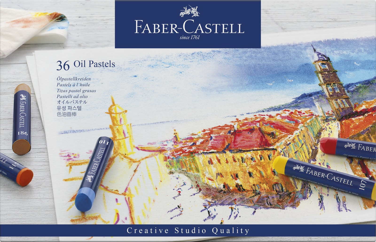 Faber-Casell: Creative Studio Oil Pastel (Set of 36) image