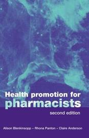 Health Promotion for Pharmacists by Alison Blenkinsopp image