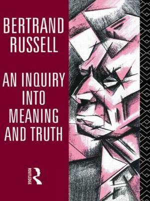 An Inquiry into Meaning and Truth by Bertrand Russell image