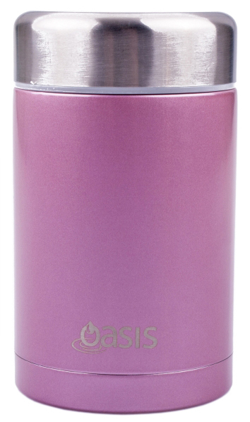 Insulated Stainless Steel Food Flask - 450ml (Blush) image