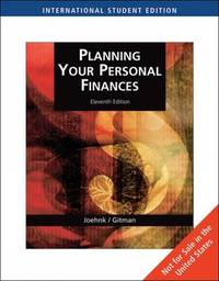 Planning Your Personal Finances by Michael D Joehnk image