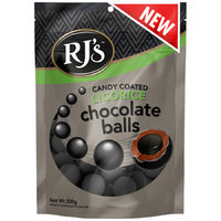 RJ's Candy Coated Licorice Chocolate Balls (200g)
