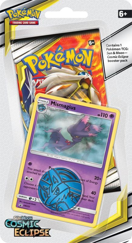 Pokemon TCG: Cosmic Eclipse Collectors Checklane Blister- Mismagius