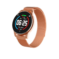 Watch 4 HD Color Screen Blood Pressure Monitor Smart Watch - Soft Gold