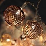 Delight Decor: Chain Electric Lanterns - Copper