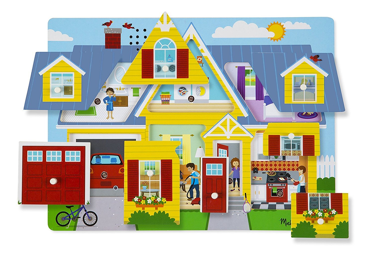 Melissa & Doug: Around the House Sound Puzzle image
