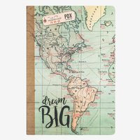 Legami: A5 Lined Notebook - Map