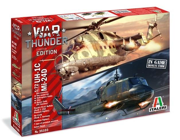 Italeri: 1/72 War Thunder UH-1C & MI-24D - Model Kit