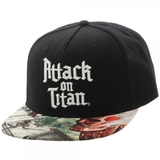 Attack On Titan Sublimated Bill Snapback Cap