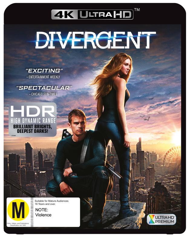 Divergent on UHD Blu-ray