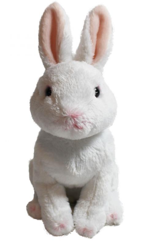 "Cuddly Critters: White Rabbit - 6"" Sitting Plush"